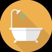 Bathrooms, wet rooms, shower rooms, baths, showers, toilet, sink, bidet.